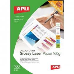 Fotopapier A4 APLI 160 g Laser lesklý