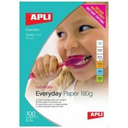 Fotopapier A4 180g APLI EVERYDAY lesklý 100ks
