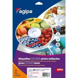 Etikety AGIPA univerzálne na CD/DVD