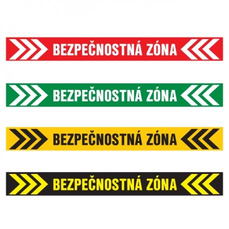 Bezpečnostná zóna – podlahová nálepka