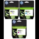 HP no.953 XL CMY originál 1600str. 20ml